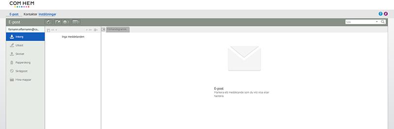 comhem kundtjänst mail